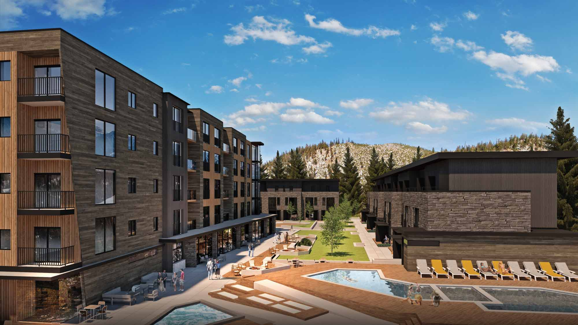 YotelPAD Mammoth Lakes Outdoor Area and Pool Rendering