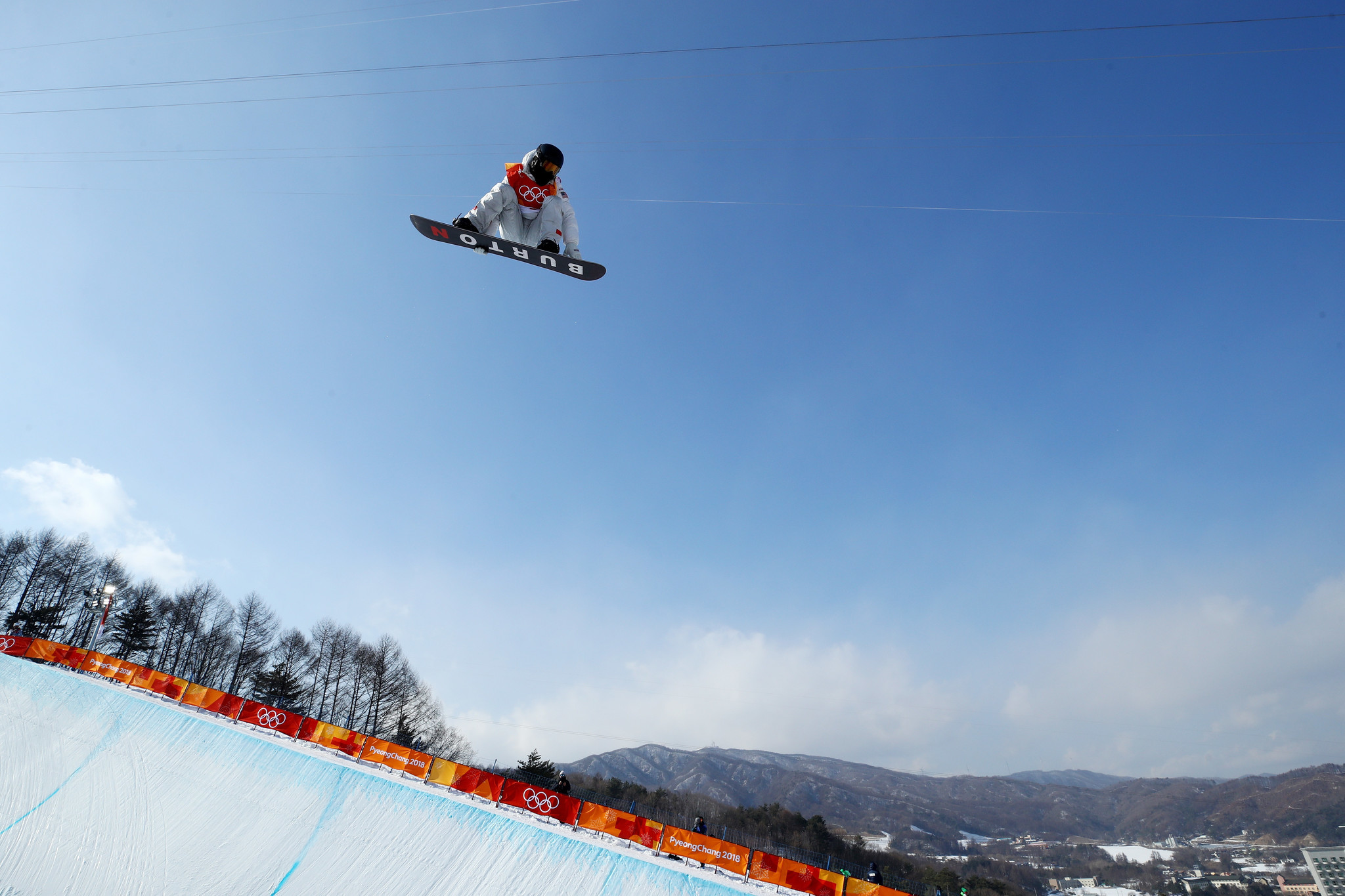 Shaun White at Pyeong Chang Olympics in Half Pipe