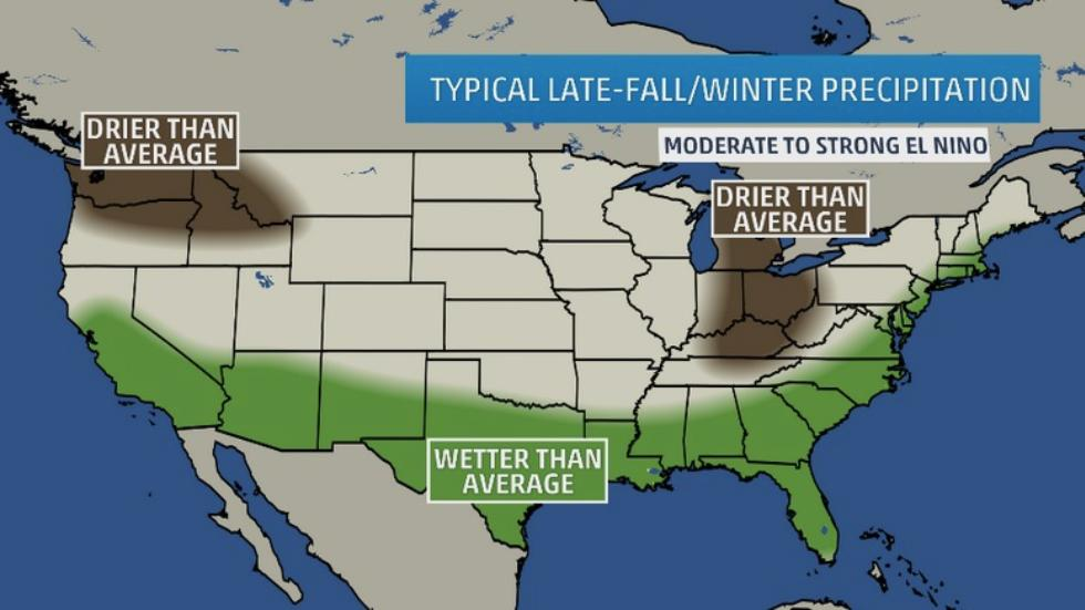 Wetter Than Average Winter Expected for 2015/2016 California Winter Season