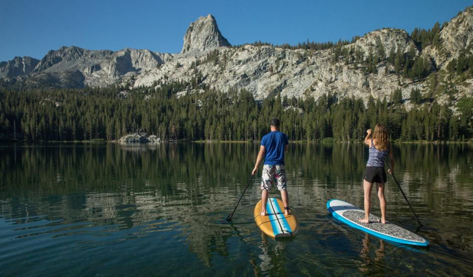 Stand Up Paddle Boarding at Lake Mary in Summer