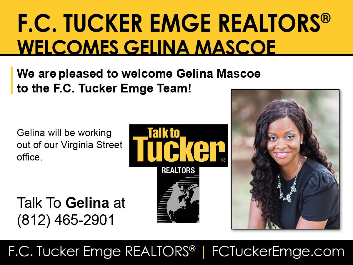 Welcome Gelina Mascoe to F.C. Tucker Emge REALTORS®!