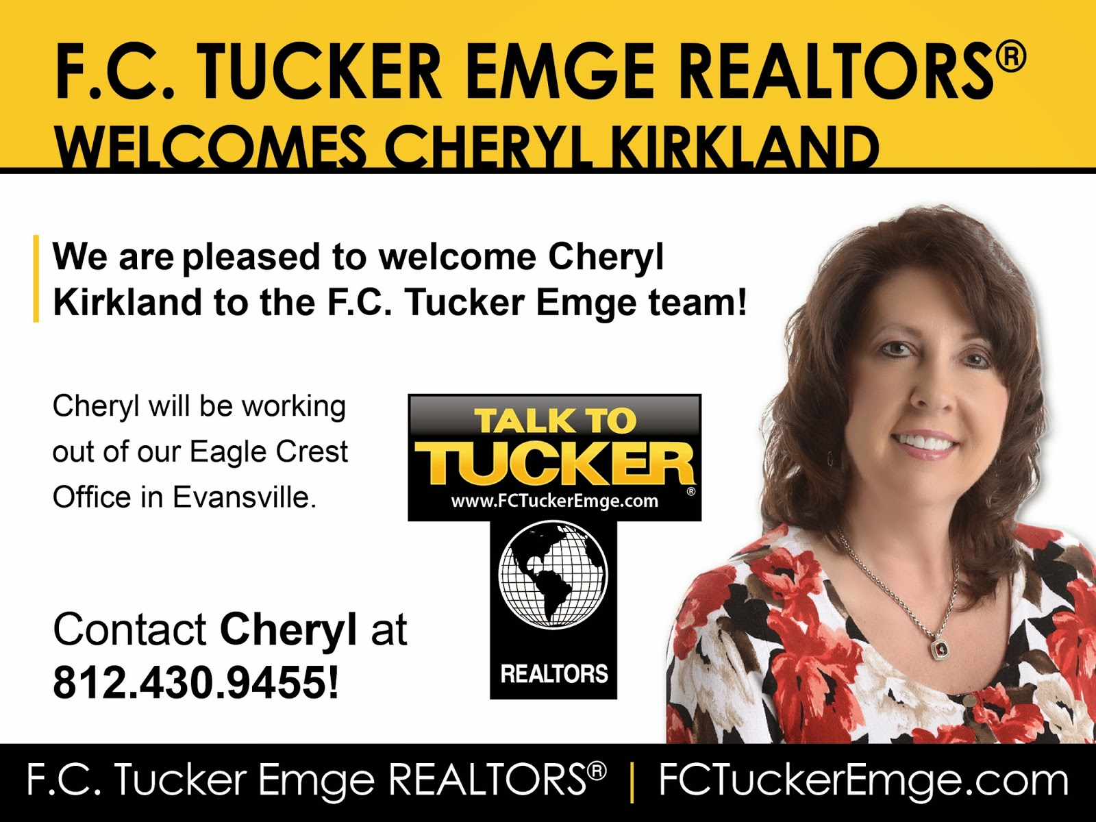 Welcome Cheryl Kirkland to F.C. Tucker Emge REALTORS®!