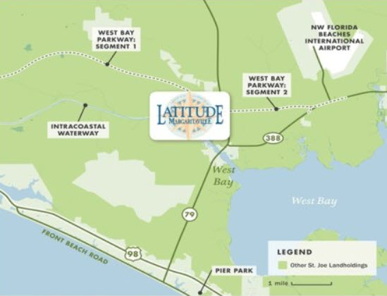 Latitudes Margarittaville WaterSound Location