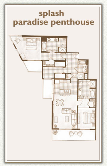 Splash Paradise Penthouse 2 Bedrooms + 2 Bunks, 3 Bathrooms