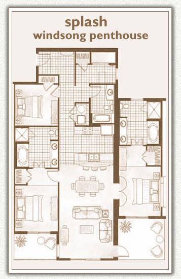 Splash Windsong Penthouse 3.5 Bedrooms, 3 Bathrooms