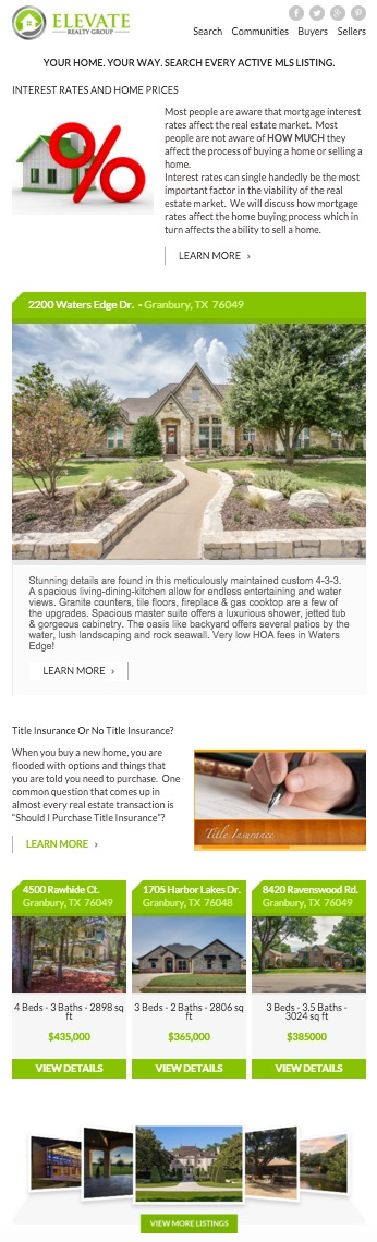 Elevate Realty Group December 2015 Newsletter