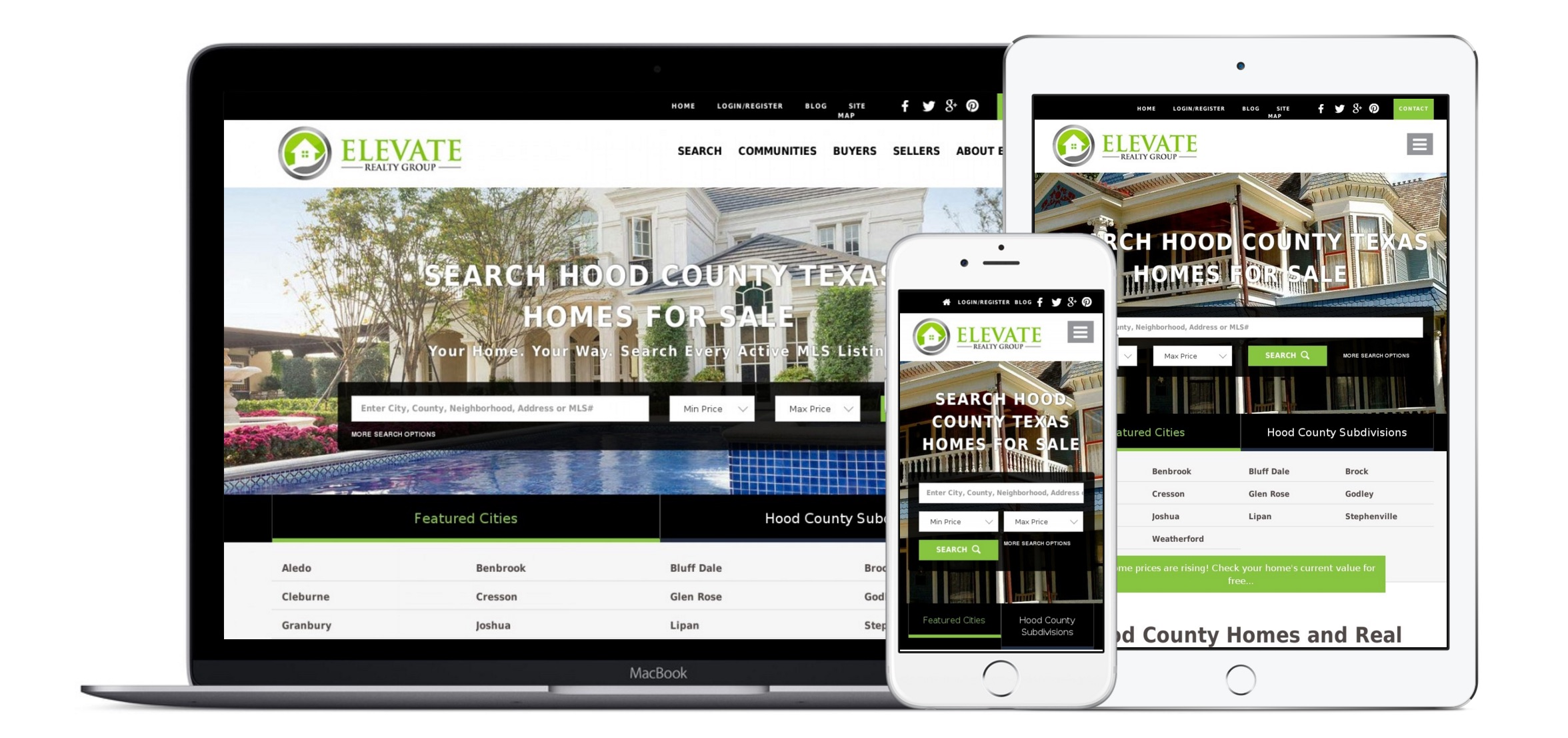 Elevate to real estate website