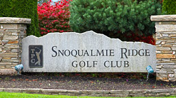 TPC Snoqualmie Ridge Golf Club Sign