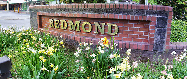 Redmond Square Sign