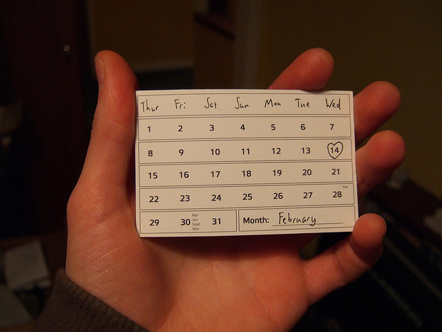 Calendar - Image Credit: https://www.flickr.com/photos/joelanman/366192378