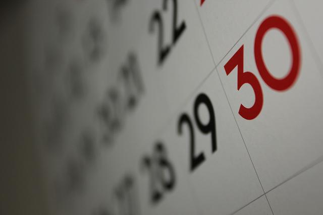 Calendar - Image Credit: https://www.flickr.com/photos/dafnecholet/5374200948