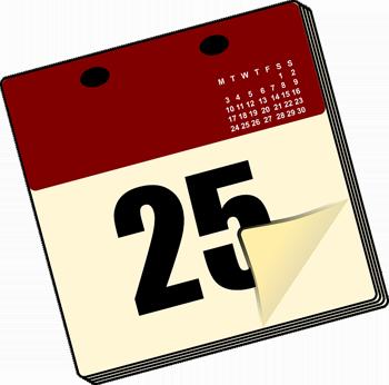Calendar - Image Credit: http://pixabay.com/en/users/OpenClips-30363/