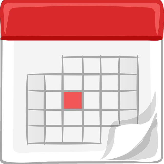 Calendar - Image Credit: https://pixabay.com/en/users/ClkerFreeVectorImages-3736/