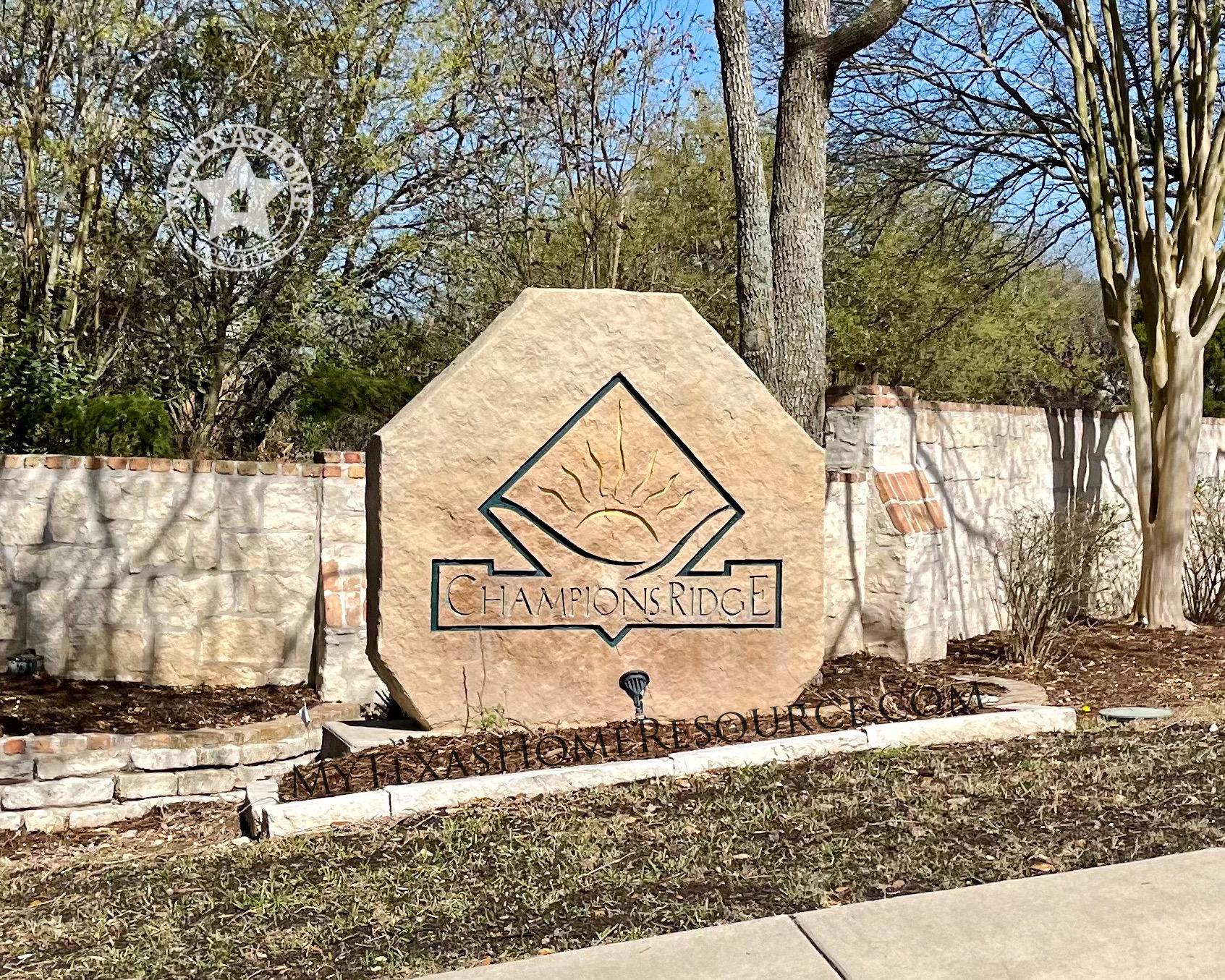 Champions Ridge Community San Antonio, TX
