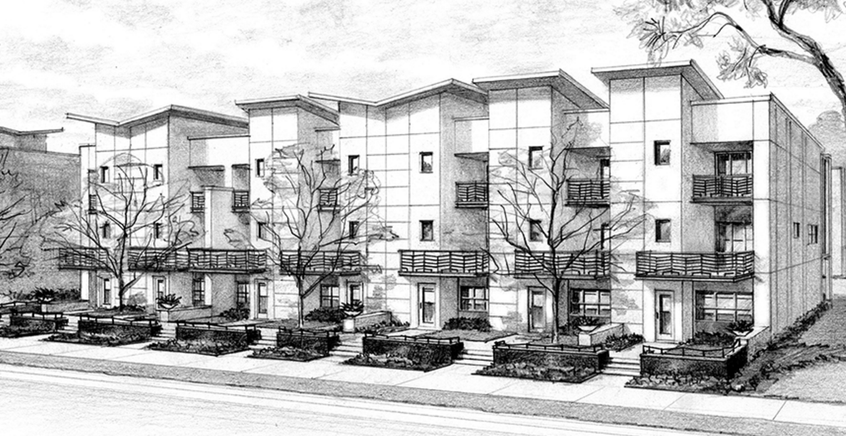 Artist rendering of The Artisan on Main condos