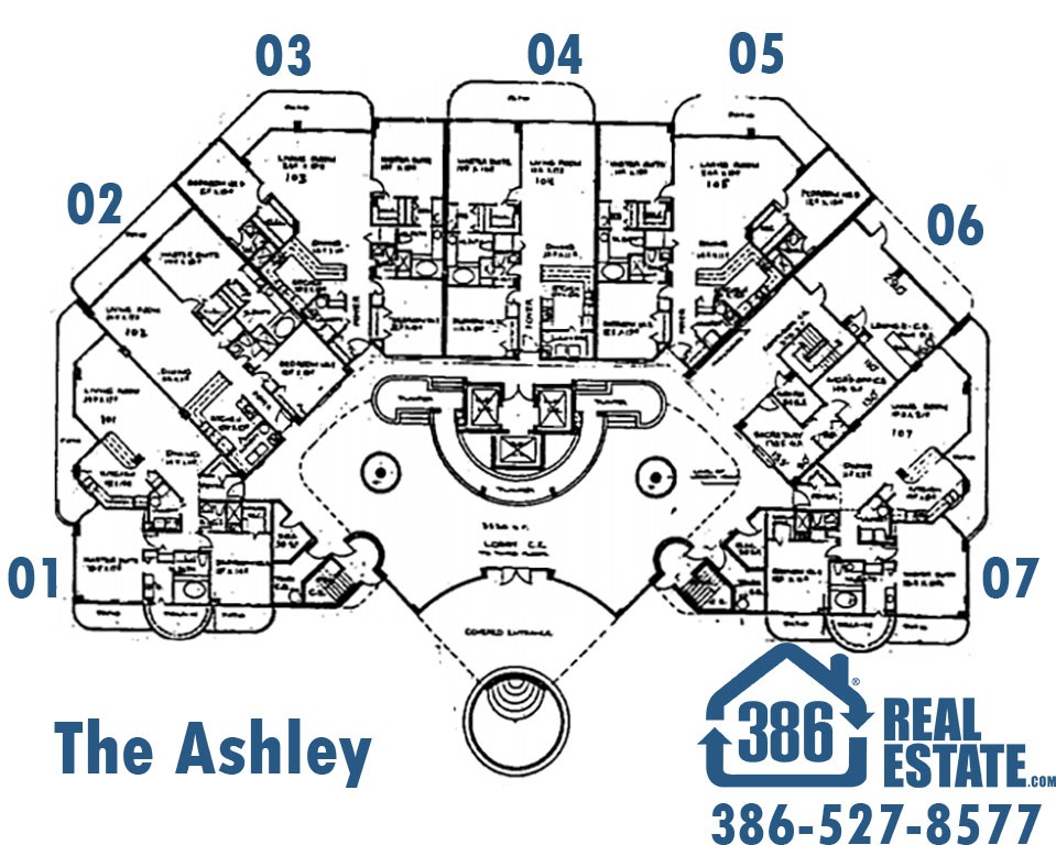 floor plans at the ashley condo