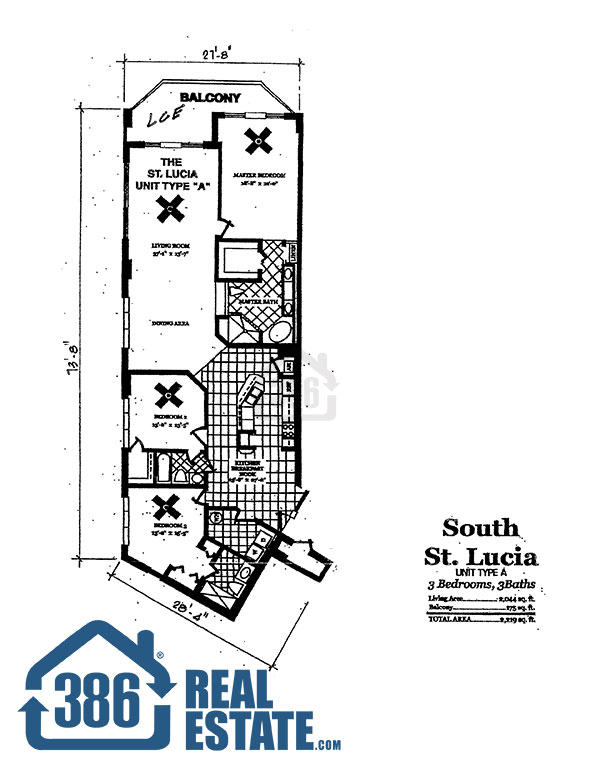 dimucci twin towers floor plan st lucia unit a 3 bed