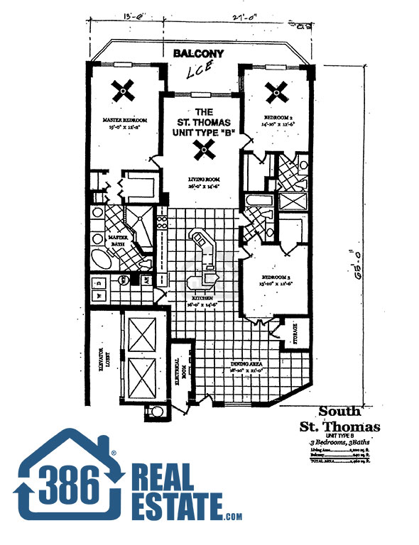 dimucci twin towers floor plan st thomas three bedroom