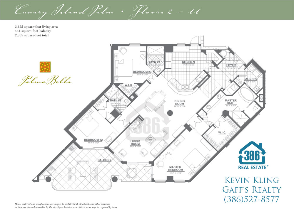 canary island floor plan