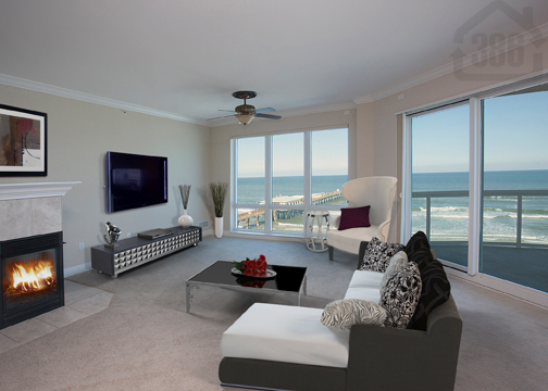 ocean villas 507 living room oceanfront