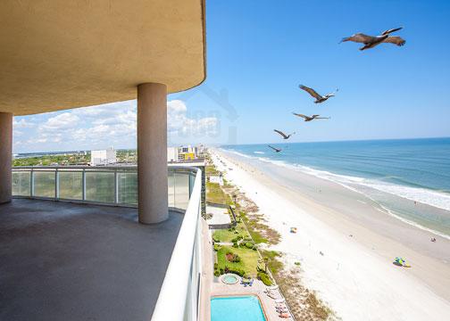 Ocean Vistas 1004 balcony beach view
