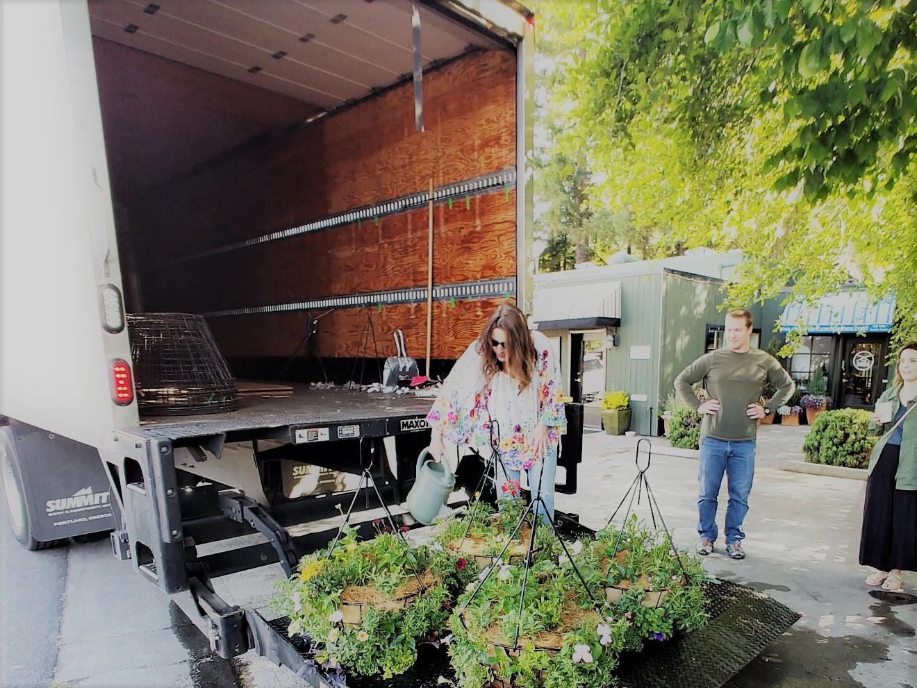 San Anselmo Downtown Gets Beautiful Hanging Flower Baskets Kacey