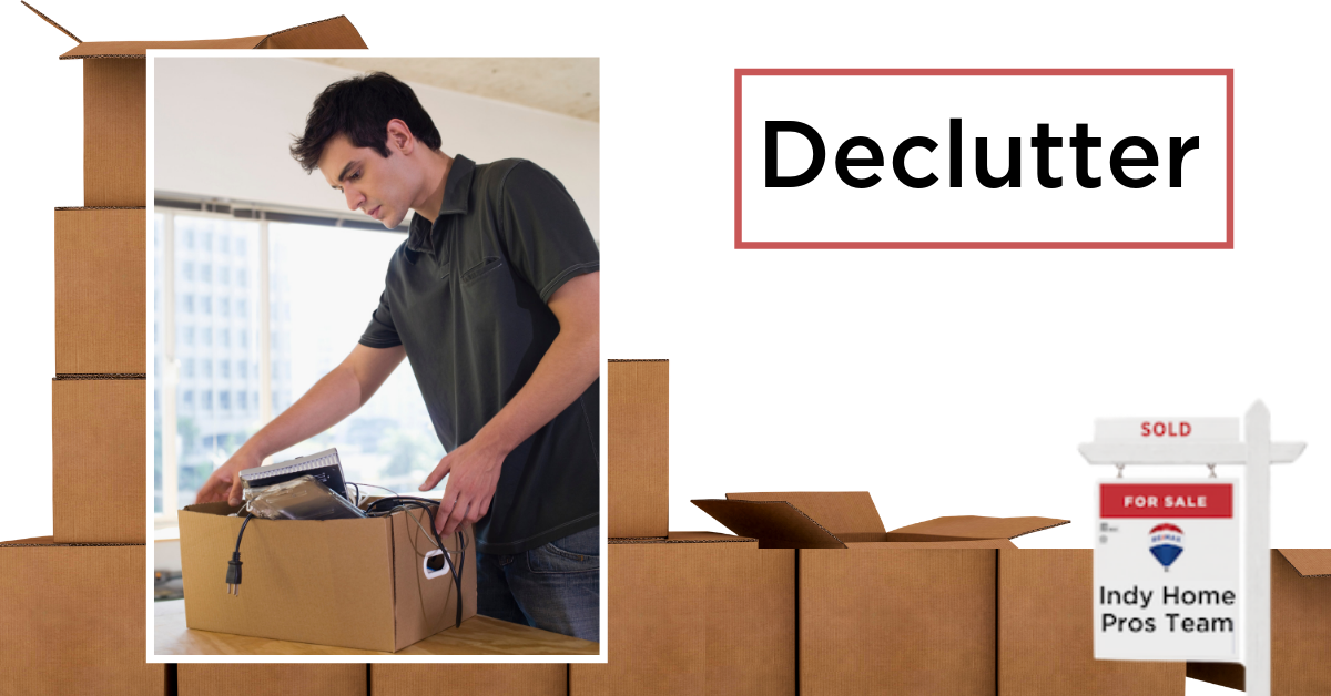Moving Tips Moving Truck Rental Graphic reading declutter