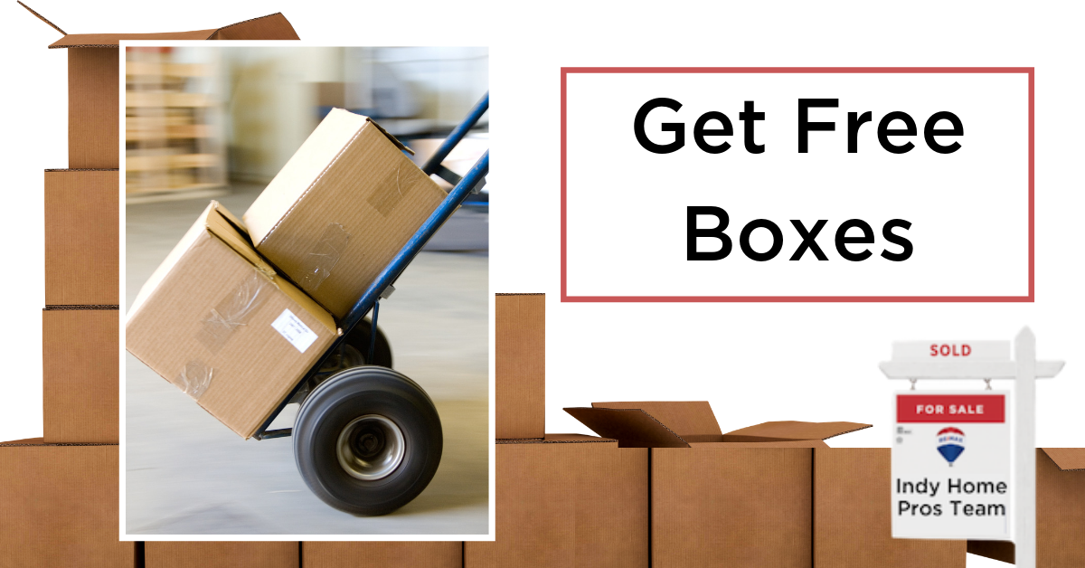 Moving Tips Moving Truck Rental Graphic reading Get Free Boxes