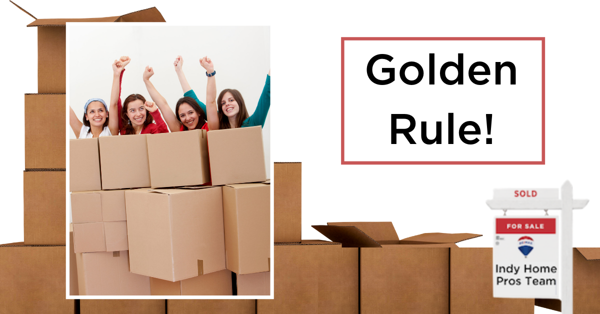Moving Tips Moving Truck Rental Graphic reading Golden Rule Bonus Tip to help others move