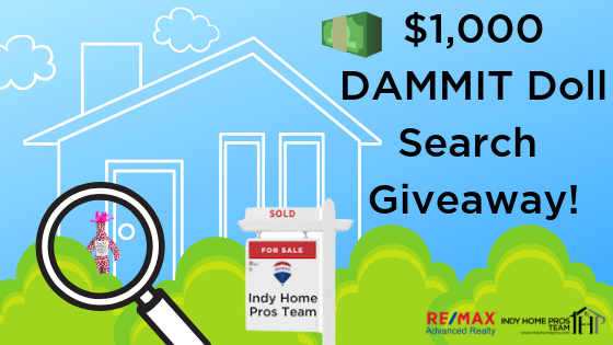 $1,000 Giveaway Graphic has a graphic of a house with sold sign in front