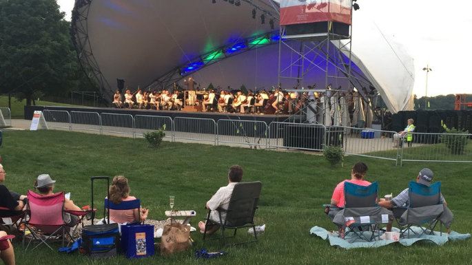 Indianapolis Things To Do Symphony on the Prairie Picture grass lawn orchestra