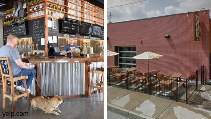 Indianapolis To Do Metazoa Brewing Dog in Brewery left side right side exterior of brewery