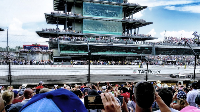 Indianapolis Things To Do Indianapolis Motor Speedway Picture of Finish Line Crowd from 2018 Indy 500