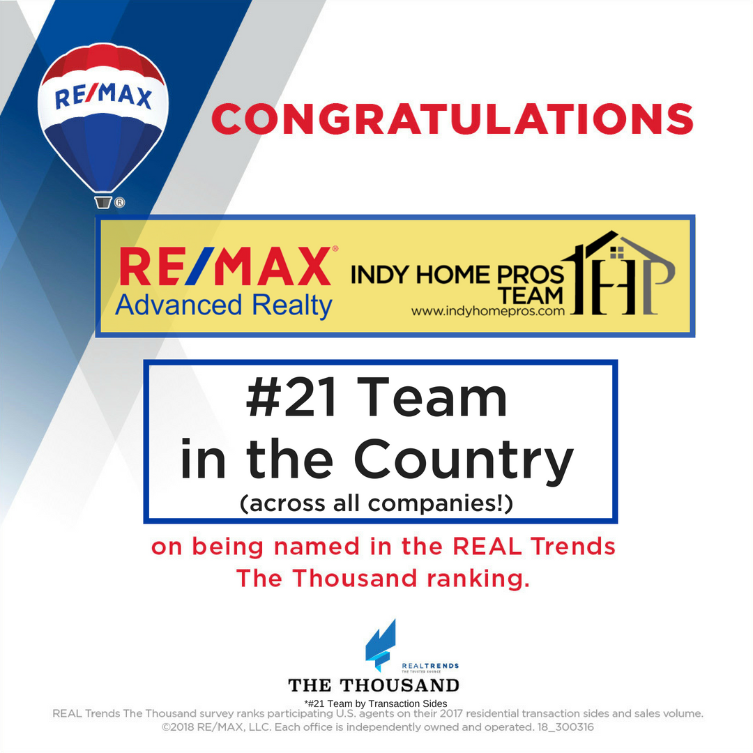 Image showing RE/MAX Advanced Realty as the #21 RE Team in the Country