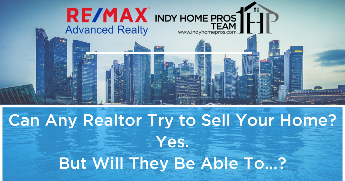 Header can any realtor sell your home? Yes. but can they?