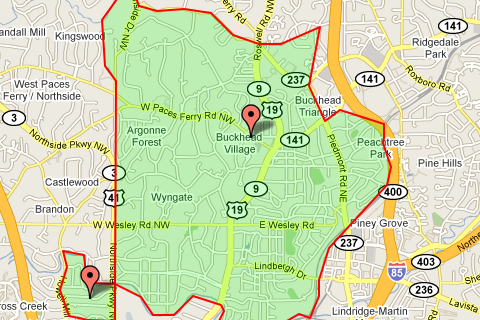 Buckhead Zip Code Map.Zip Code 30305 Atlanta Real Estate Homes For Sale In Zip Code 30305