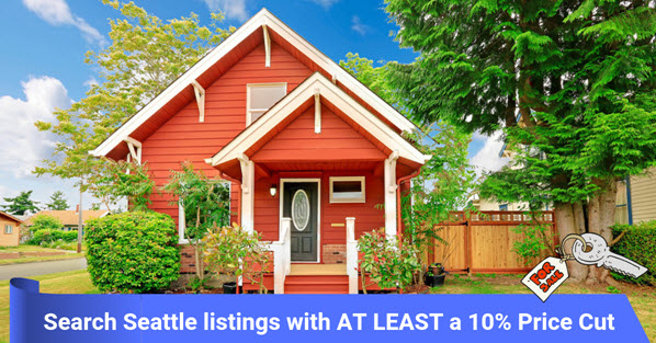 Seattle homes with at least a 10% price drop