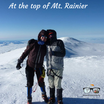 At te top of Mt. Rainier