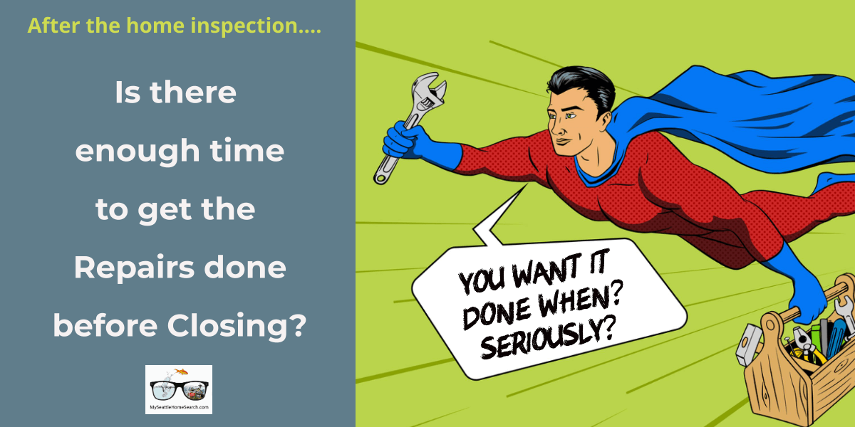 Can home inspection repairs be completed before closing