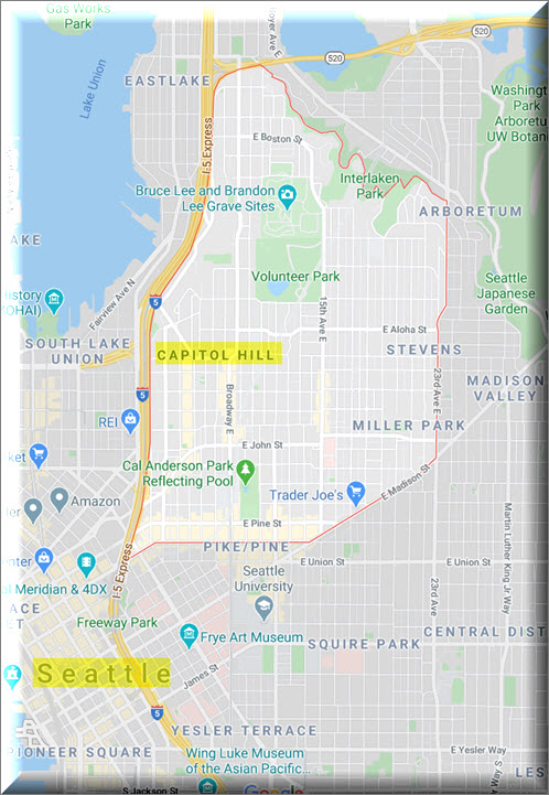 Map of Capitol Hill Seattle