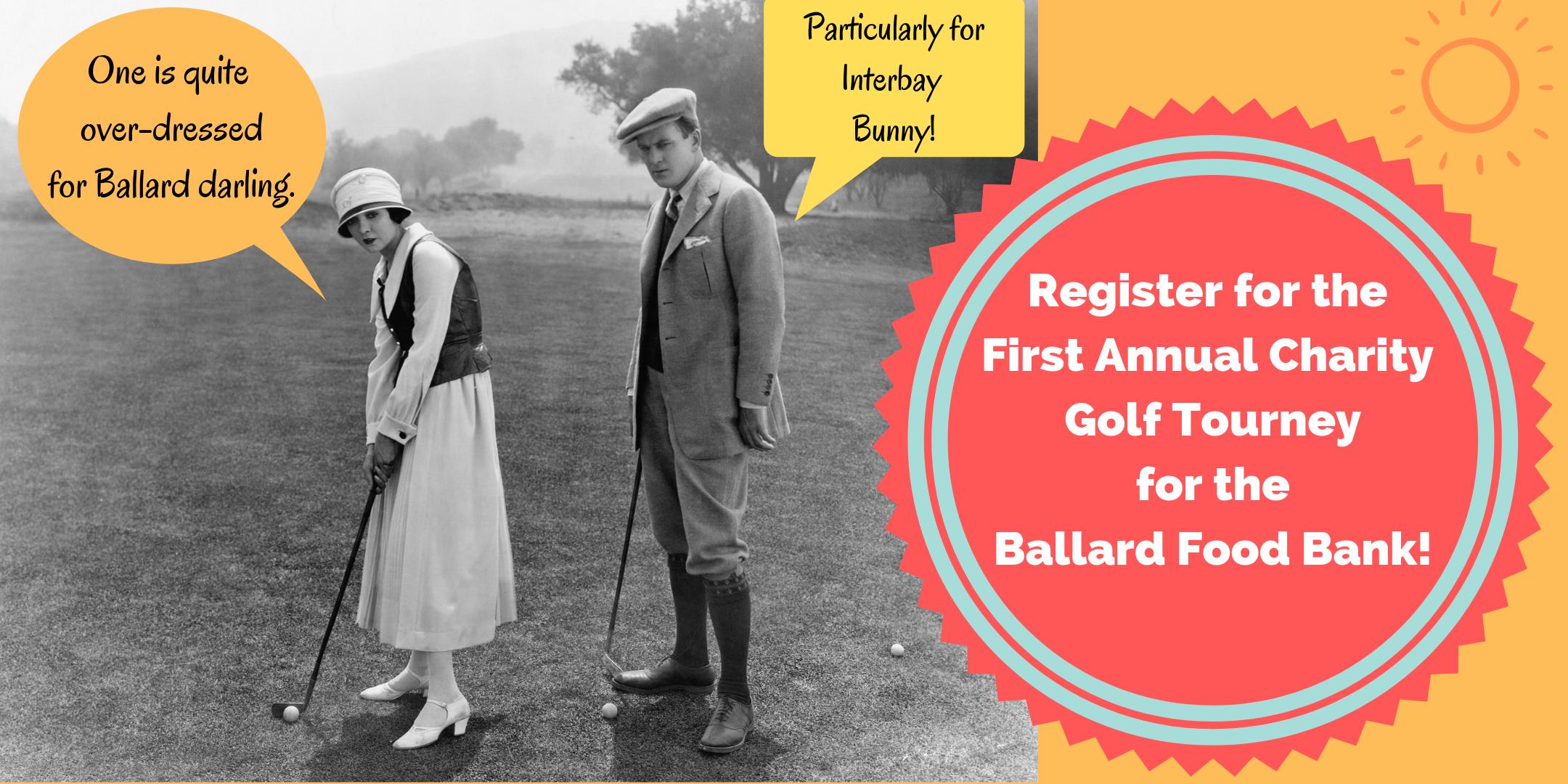 Charity golf event for the Ballard Food Bank