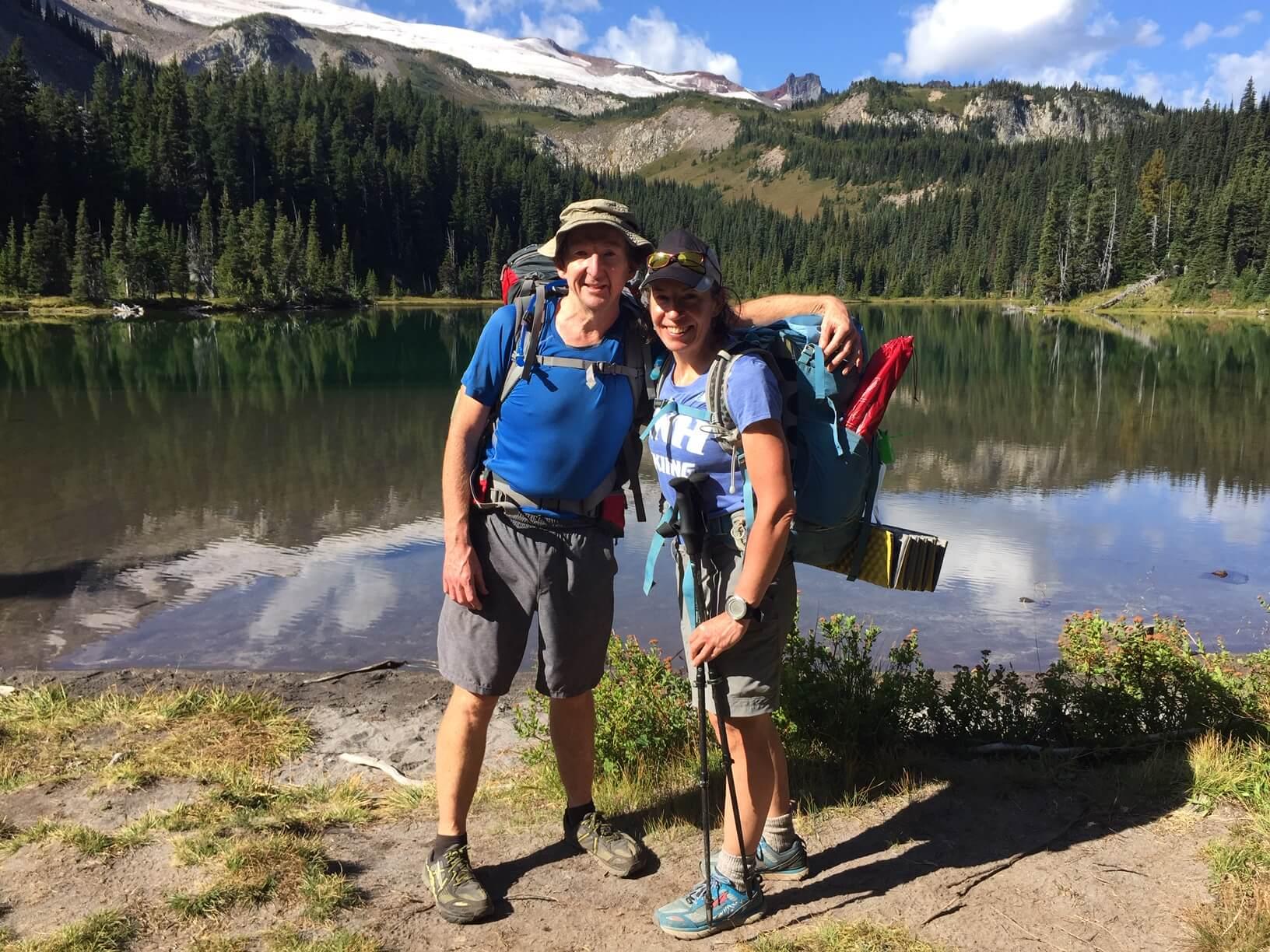 Backpacking on Mt. Rainier.