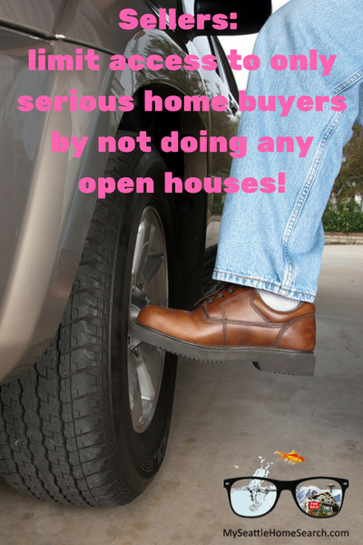Serious home buyers don't wait for open houes