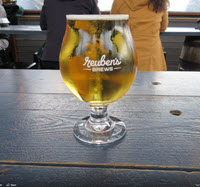 A pilsner at Rueben's Brews in Ballard Seattle