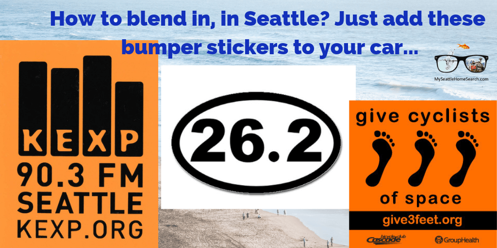 Seattle bumper sticker to help you belnd in