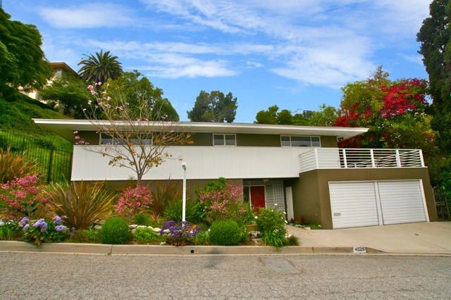 4525 Cockerham Dr. - Los Feliz Mid-Century home from the front