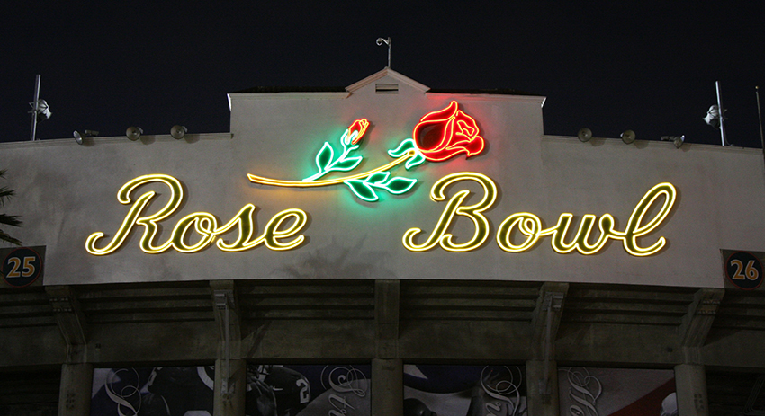 Rose Bowl Neon Sign