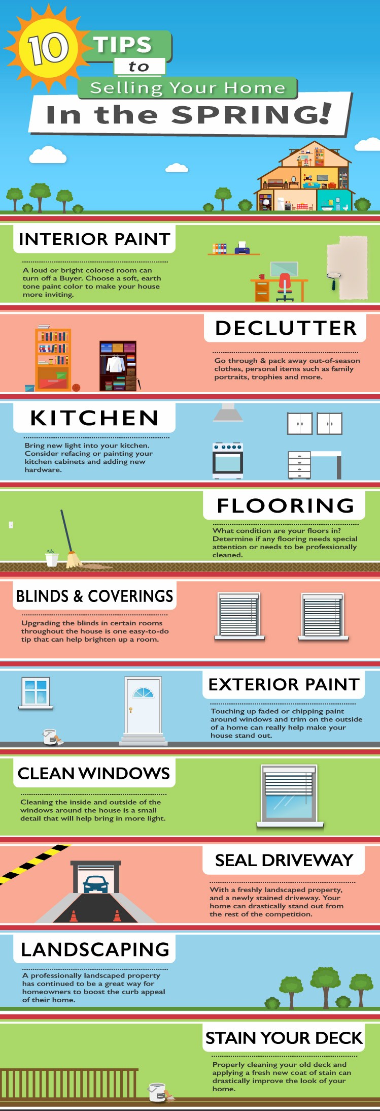 10 Easy Things To Do To Get Ready To List Your House In The Spring