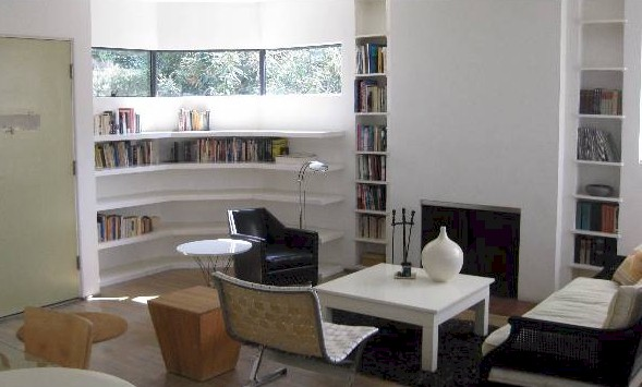 Curved walls and built-ins  Adams house -3217 Fernwood Ave Silver lake streamline moderne