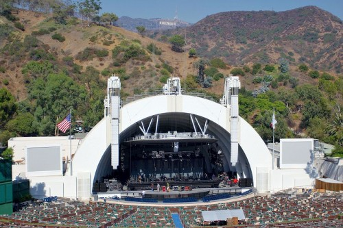 The Hollywood Bowl, which borders the northern edge of Outpost Estates